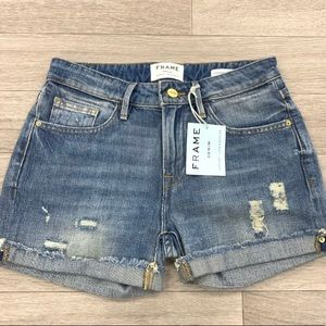 NWT FRAME Denim Le Cut Off Jean Shorts distressed